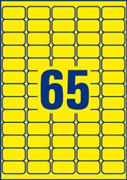 2XSelf-Adhesive Removable Neon Yellow Labels
