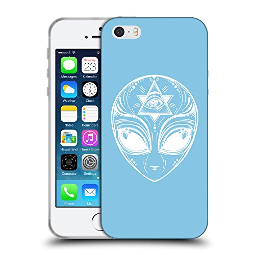 GoGoMobile Coque de Protection TPU Silicone Case pour // Q09010609 extraterrestre 2 Bébé bleu // Apple iPhone 5 5S 5G SE