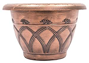 Medieval Arch Rustic Country Look Plastic Planter 12X8 Flowerpot for Indoor, Outdoor, Garden, Patio, Office Ornaments, Home Decor, Long Lasting Reusable, Light Weight, Water Resistant (Copper)