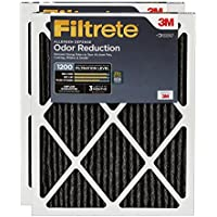 Filtrete MPR 1200 16 x 25 x 1 Allergen Defense Odor Reduction AC Furnace Air Filter, Uncompromised Airflow, 2-Pack