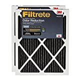 3m filtrete carbon - Filtrete MPR 1200 20 x 20 x 1 Allergen Defense Odor Reduction AC Furnace Air Filter, 2-Pack