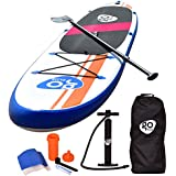 """Goplus 10' Inflatable  Stand Up Paddle Board Package w/ Fin Adjustable Paddle Pump Kit Carry Backpack, 6"""" Thick"""