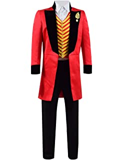 Greatest PT Barnum Cosplay Costume Performance Uniform Showman Party Suit