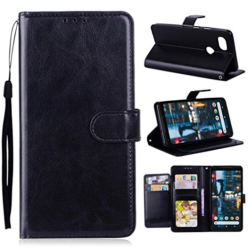 Price comparison product image Mchoice For Google Pixel 2 XL Case Luxury Leather Magnetic Flip Card Case Stand Cover (Black)