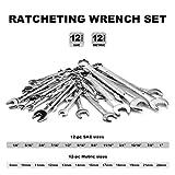CARTMAN 24-Piece SAE/Metric Combination Wrench