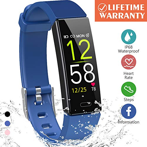 K-berho Fitness Tracker HR,Activity Tracker Watch with Heart Rate Monitor, Sleep Monitor, Smart Fitness Band with Step Counter, Calorie Counter Watch Waterproof, Pedometer Watch for Kid Women and Men (Best Period Tracker App For Men)
