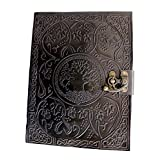 Gbag (T) Large Tree of Life Leather Journal Diary Notebook for Writing Leather Diary Handmade Leather Journal
