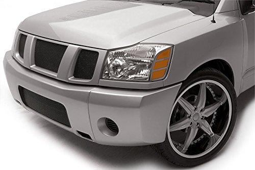 (Grillcraft NIS1551B MX Series Black Lower 1pc Mesh Grill Grille Insert for Nissan Armada Titan)