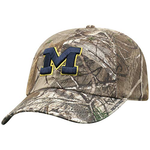 - Top of the World NCAA Michigan Wolverines Men's Real Tree Camo Adjustable Icon Hat, Real Tree