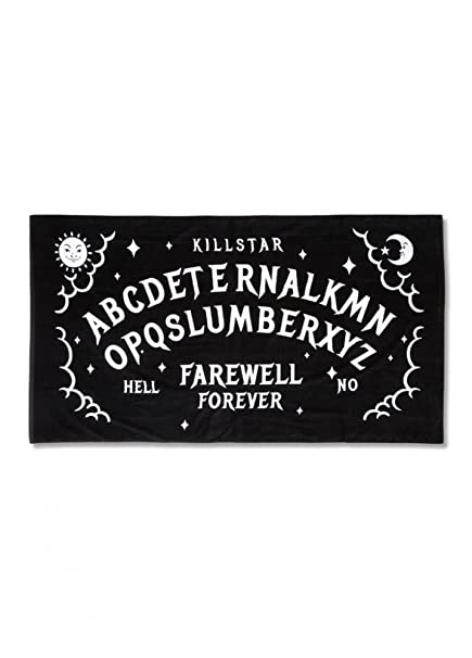 Killstar Slumber Gótico Occult Tabla Ouija de bruja grande toalla de playa negro