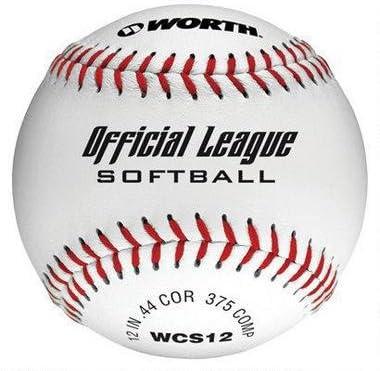 Worth Vale la Pena WCS12 – Oficial Liga de béisbol con Sello Blanco Softball (Pack de 12): Amazon.es: Deportes y aire libre