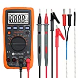 Neoteck Digital Multimeters 4000 Counts Auto Manual Ranging AC/DC Voltage Current Resistance Capacitance Multi Testers with Backlit LCD for School Laboratory Factory and other Social Fields