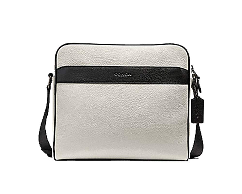 Coach Mens Charles Leather Camera Messenger Bag - #F26077