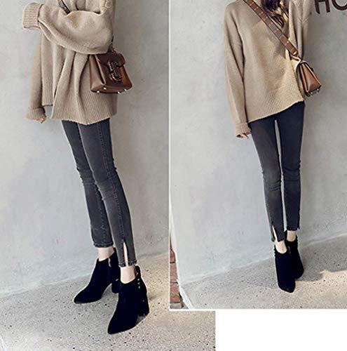 Tamaño 2 Zapatos Chelsea Negro 34eu Hhgold Tacón 2 Para color De Alto Mujer gWw6qRTv7