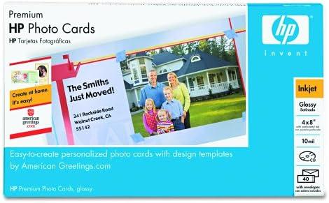 Amazon.com : HP Q7892A Premium Photo Paper, 4 X8, 40 Sheets/Pack