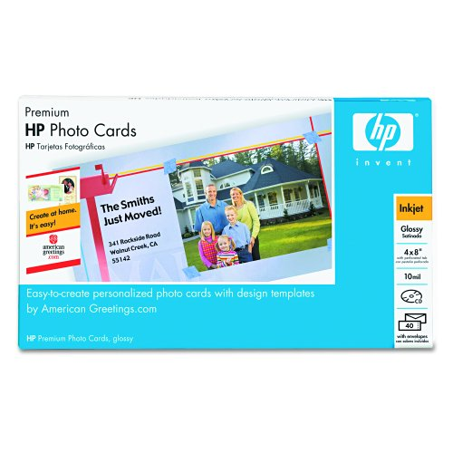 HP Q7892A Premium Photo Paper, 4 x8, 40 Sheets/pack