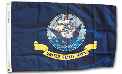 Cheap 2×3 ft 2'x3′ Solarmax Double Sided Sewn Nylon US Navy Flag House Banner