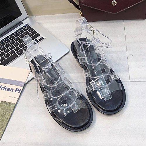 Donyyyy Sandalias áspero, verano dedos transparentes, zapatos para caminar, los zapatos y sandalias. Thirty-eight