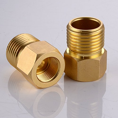 KES Faucet Supply Line Adapter 1/2 NPT Male to 9/16-24 UNEF Female ...