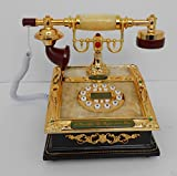 Retro style push button dial desk telephone (onyx) / Home decorative # 1715