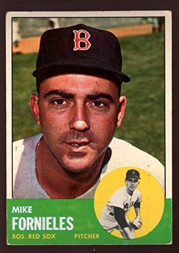 MIKE FORNIELES #28 BOSTON RED SOX PITCHER 1963 TOPPS BASEBALL RARE SP SET BREAK (Pitcher Set Sox)