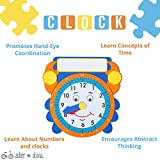 Wooden Toddler Puzzles and Rack Set