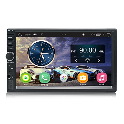 Super Android Car Radio Stereo Double Din 7 inch Capacitive Touch Screen High Definition 1024×600 GPS Navigation 2USB Port+1TF Slot MP5 Player WIFI BT AM/FM | SP011