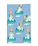 Interestlee Fleece Throw Blanket Baptism Decorations Baptism Sitting Sleeping Crawling Smiling Babies On Clouds Catholic Children Party