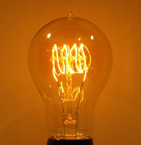 2-Pack 30W A19 Edison-Victorian Antique Reproduction Light Bulb with Quad-Loop Filament