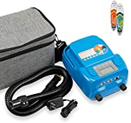 Seamax Sup 16DB PRO Double Stage 16PSI Electric Air Pump with built-in Battery for Inflatable SUP and Boat, In