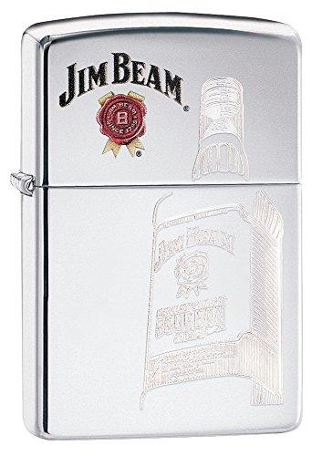 Zippo Jim Beam Auto-Engraved High Polish Chrome Pocket (Engraved High Polish)