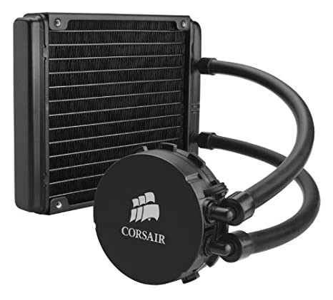 Corsair H115i PRO RGB water cooling black two ML140 fans, advanced software control of RGB lighting and fan speed, zero RPM fan mode