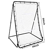 PEATAO Pitchback Ball Rebounders, 44 x 64inch Portable Baseball Softball Trainer Pitch Back Training Screen, Catching, Throwing, and Shooting (US STOCK)
