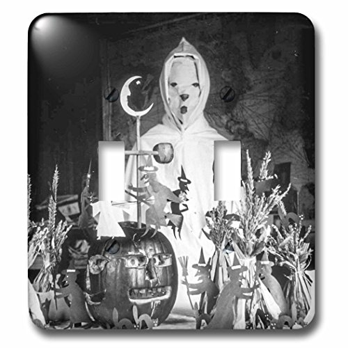 3dRose lsp_269794_2 Vintage Halloween Creepy Ghoul Wizard in His Laboratory Early 1900S Toggle Switch Mixed ()