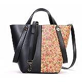 Shinmax Cork Handbags, Shopping Bags Pocket Bag for Womens Ladies Top CorkToteHandbags (Rose2)