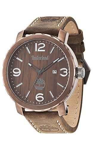Timberland Reloj Analógico para Hombre de Cuarzo con Correa en Cuero TBL14399XSBN.12