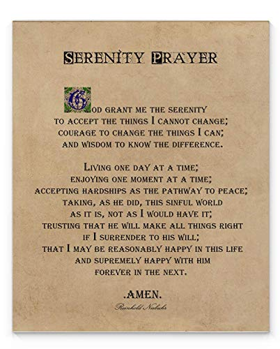 Serenity Prayer Wall Decor, 11