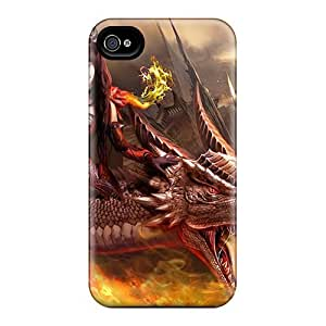 Defender Case With Nice Appearance (dragon Rider) For Iphone 4/4s