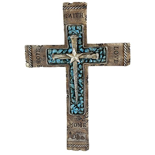 Pine Ridge Western Wall Cross Rustic Cowboy Praying Crucifix