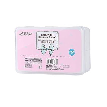 Mengonee 1000pcs/caja de cosméticos almohadillas de algodón quitar el maquillaje sombra de ojos Toallitas