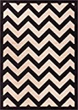 """Well Woven Dulcet Chevron Black Modern Area Rug 5′ X 7'2"""" For Sale"""