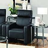 Coaster Home Furnishings 600181 Contemporary Recliner, Black