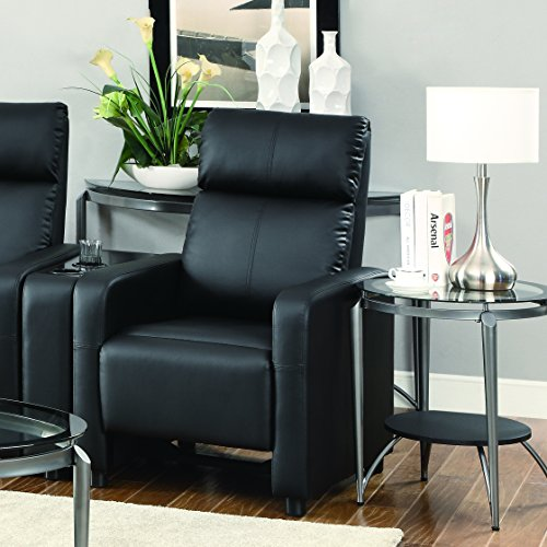 Coaster Home Furnishings 600181 Contemporary Recliner, - Theater Collection Seating