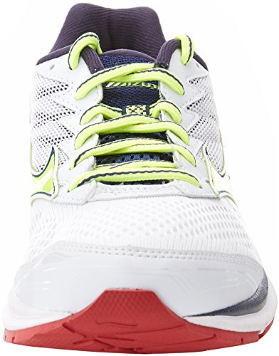 Mizuno Men's Wave Rider 20 Running Shoes Multicolor (White / Safety Yellow / Blueprint) I7S5dT