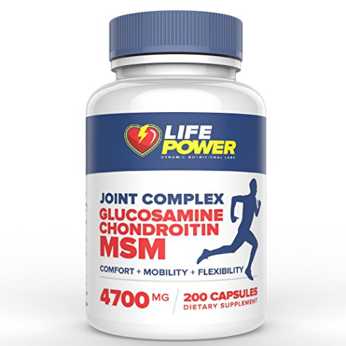 Msm   Glucosamine   Chrondrotin   4700 Mg   Joint   Arthritis Pain Relief Formula  All Natural  Healthy Support For Relief Of Inflammation  Aches  Joint   Muscle Pain  Non Gmo  200 Capsules