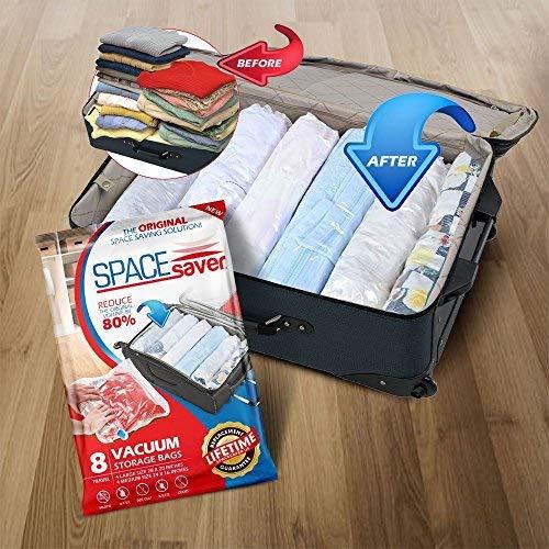 Space Saver 4 grandes + 4 medianas Juego de 8 bolsas compresoras para ropa