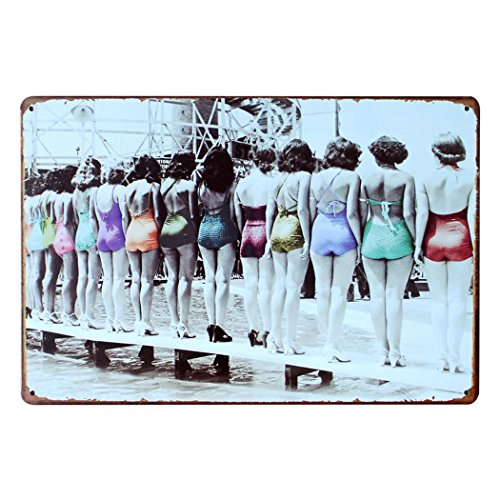FLY SPRAY Decorative Signs Tin Metal Iron Sign Retro Sexy Girls Printed Painting For Wall Home Office Bar Coffee Shop (8x12inch, Sexy Girls)