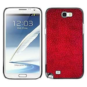 Caucho caso de Shell duro de la cubierta de accesorios de protección BY RAYDREAMMM - Samsung Galaxy Note 2 N7100 - Red Wallpaper Design Texture Textile Art
