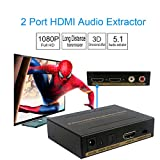 HDMI Audio Extractor Support 3D 1080P with Optical and R/L Output for PS4 Xbox DVD Blu-ray HD TV,etc