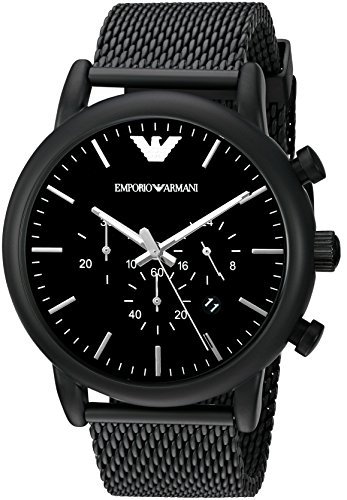 Emporio Armani Men's AR1968 Dress Black Quartz (Emporio Armani Sport Watch)